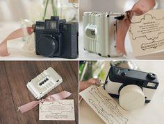 vintage cameras as wedding decor on COUTUREcolorado