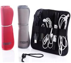 Cocoon Grid It Organizer System Kit Case storage Bag for Digital Gadget USB cable Earphone Pen Travel Bag Black red gray-in Storage Bag.