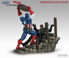Wanted Post: RARE Captain America Vs Red Skull Sideshow Collectibles Marvel Statue | FyndIt