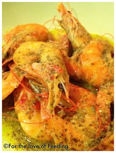 Shrimps with lemon mustard sauce