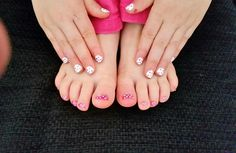 fingers & toes dotted nail art