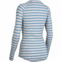icebreaker merino womens striped henley - Back c6aa7b577365