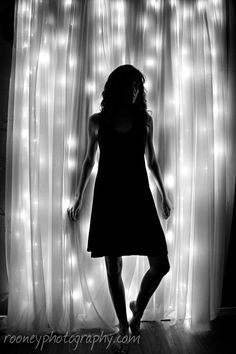 black and white silhouette, black and white self-portrait, black and white photography, black and white portrait, indoor portrait