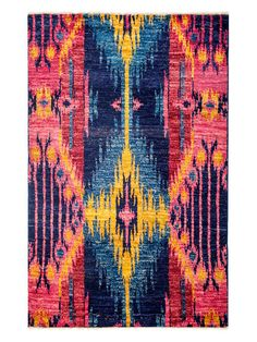 Ikat Hand-Knotted Rug by Solo Rugs at Gilt