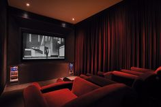 Home Theater  CHATSWORTH BY KRI:EIT ASSOCIATES SINGAPORE THEATRE PRIVATE THEATRETTE KRIEIT by The Mill Singapore, via Flickr