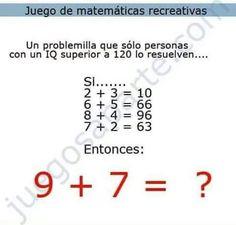 Acertijo matemático.                                                                                                                                                                                 Más