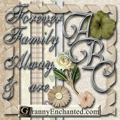 "GRANNY ENCHANTED'S BLOG: ""Chrome Swirl"" PNG Free Scrapbook Alphabet Letters, Papers, & PNG Elements"