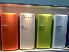 Geladeiras coloridas