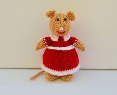 Knitted Lady Mouse Doll - Knitting Pattern - PDF E-Mail £2.60