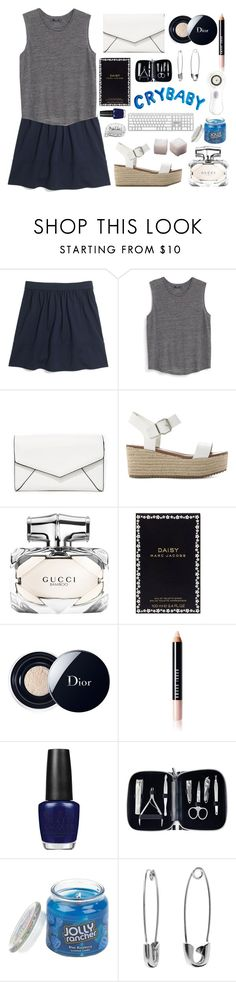 """""""Wash my Mouth out With Soap"""" by sugarplumfairy98 ❤ liked on Polyvore featuring Madewell, MANGO, LULUS, Steve Madden, Gucci, Marc Jacobs, Christian Dior, Bobbi Brown Cosmetics, OPI and Sephora Collection"""