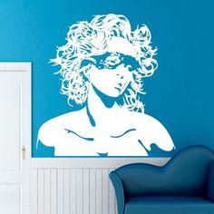 WALL VINYL STICKER  DECALS ART MURAL BEAUTIFUL GIRL WITH LONG HAIR DA331 #STICKALZ #MuralArtDecals