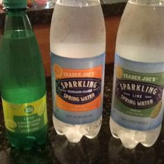 Whole Foods lime Italian sparkling water & Trader Joe's sparkling mandarin orange or lime spring waters. Yum...