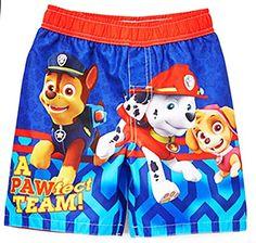 e898fe3adce57 Nickelodeon Toddler Boys' Paw Patrol Swim Trunk UPF 50+ Licensed swimwear  Paw Patrol,