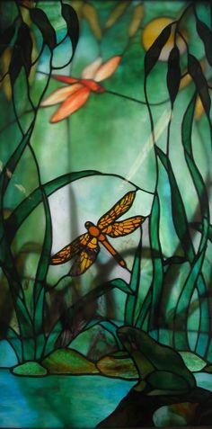 """""""Dragonflies"""" by Michelle Skip Vasquez https://www.etsy.com/people/mouchette Buy her book here: https://www.etsy.com/listing/13781335/book-curliosity-the-stained-glass?ref=shop_home_active_1"""