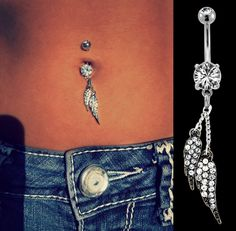 Dangling Wings Belly Ring - Get the Look at BellyBling.net!
