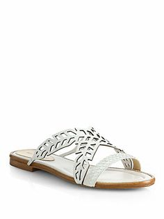 Alexandre Birman - Cutout Python Slide Sandals - Saks.com Slide Sandals, Wedge Sandals, Beach Wedding Shoes, Alexandre Birman, Your Shoes, Python, Me Too Shoes, Footwear, Wedges