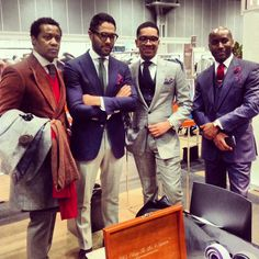 """Esquire Magazine """"Best Dressed Real Man"""" Angel Ramos Stopping past the Armstrong & Wilson booth @ the MRket Show."""