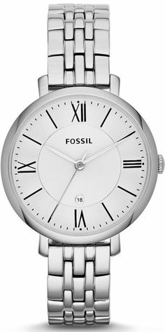 #Fossil #Watch , Jacqueline Three-Hand Stainless Steel Watch ES3433