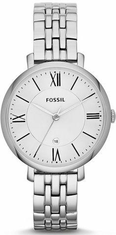 #Fossil #Watch , Jacqueline Three-Hand Stainless Steel Watch ES3433
