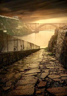 A potential district in the broken world of Obsidian // Porto, Portugal Visit Portugal, Spain And Portugal, Portugal Travel, Porto City, Portuguese Culture, Night Photography, Photos, Pictures, Places To See