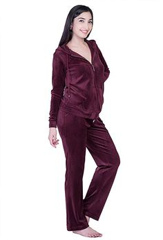 Womens 2 Piece Jogging Warm Up Suit Hoodie Zip Jacket