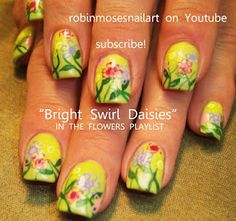 Nailart with flowers! Lovely!