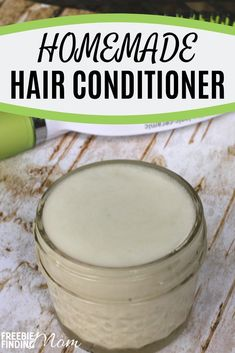 Would you like an all-natural hair treatment that will sooth dry and damaged hair? Give your hair a silky luster without chemicals by whipping up this homemade hair conditioner! #homemadehairconditioner #homemadehairtreatments #homemadehairproducts #homemadehairmask