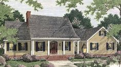 Eplans Adam - Federal House Plan - Charming Casual Design - 2014 Square Feet and 3 Bedrooms from Eplans - House Plan Code HWEPL11298