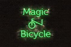 Magic on bicycle