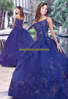 Royal Blue and Stars Quince Dress