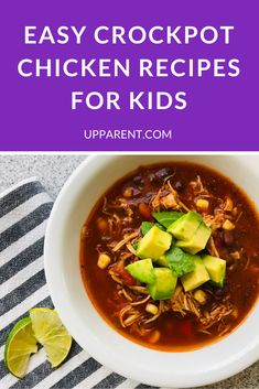 Upparent asked parents for their favorite crockpot chicken recipes for kids, and here they are! All of the best kid-friendly recipes for busy nights. More slow cooker recipes are added to the list as parents recommend them! Kid Friendly Crockpot Recipes, Slow Cooker Recipes, Cooking Recipes, Chicken Recipes For Kids, Whole Food Recipes, Fall Recipes, Yummy Recipes, Vegetarian Recipes, Recipies