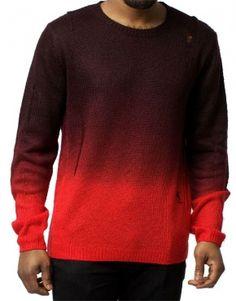 Religion Clothing East Village Jumper Black / Red (H233EVW15)