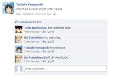 Arrrrrrcggggggghhh *dinosaur screams plus the sound of Tsukki's tears*