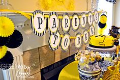 """couples baby shower theme: """"parents to bee"""""""