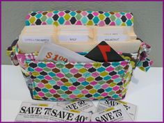 Coupon Organizer Quilted Tote on Handmade Artists' Shop