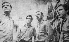 Joy Division: Ian Curtis, Stephen Morris, Peter Hook and Bernard Sumner