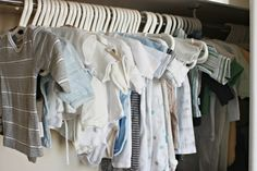 organising baby clothes