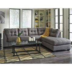 Shop for the Benchcraft Maier - Charcoal Sectional with Right Chaise at Pilgrim Furniture City - Your Hartford, Bridgeport, Connecticut Furniture & Mattress Store Ashley Furniture Sofas, Furniture Styles, Quality Furniture, Rustic Furniture, Cool Furniture, Living Room Furniture, Furniture Sets, Living Room Decor, Furniture Design
