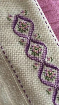 This Pin was discovered by Kıy Cross Stitch Bookmarks, Just Cross Stitch, Cross Stitch Borders, Cross Stitch Flowers, Cross Stitch Designs, Cross Stitching, Cross Stitch Patterns, Crewel Embroidery, Cross Stitch Embroidery