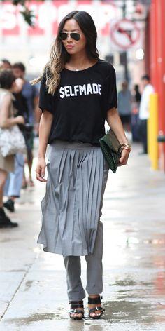 #NYFW Spring 2015 Street Style   Aimee Song SELFMADE tee