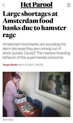 Amsterdam Food, Food Bank, Rage, Behavior, March, News, Behance, Mac, Manners