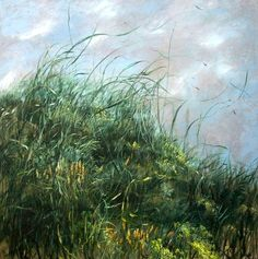 I want to be in the exact moment of this painting... Lying in the grass, feeling the soft breeze... So tranquil... At peace...  Artist Claire Basler