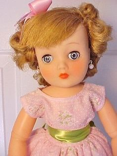 Beautiful-Vintage-1957-19-HORSMAN-CINDY-FASHION-DOLL-in-Pink-Outfit-Complete