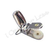 10 Pacifier Suspender Holder Clips + Inst. - 3/4