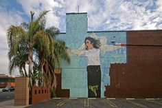 This mural can be found on Cahuenga Boulevard in Los Angeles, CA.