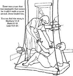 jesus heals a paralyzed man jesus heals craftpreschool