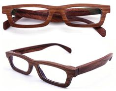 LOVEWOOD handmade yellow rosewood wooden eyeglasses by TAKEMOTO, $150.00