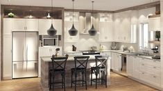 Online shopping from a great selection at Home Store. Kitchen Dinning Room, Big Kitchen, Kitchen Decor, Beautiful Kitchens, Cool Kitchens, Interior Design Living Room, Kitchen Remodel, Sweet Home, New Homes