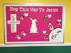 Easter bulletin board. 2017