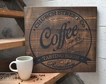 Custom Coffee Company Sign - Customize This Sign With Your Name or Company - Industrial Sign